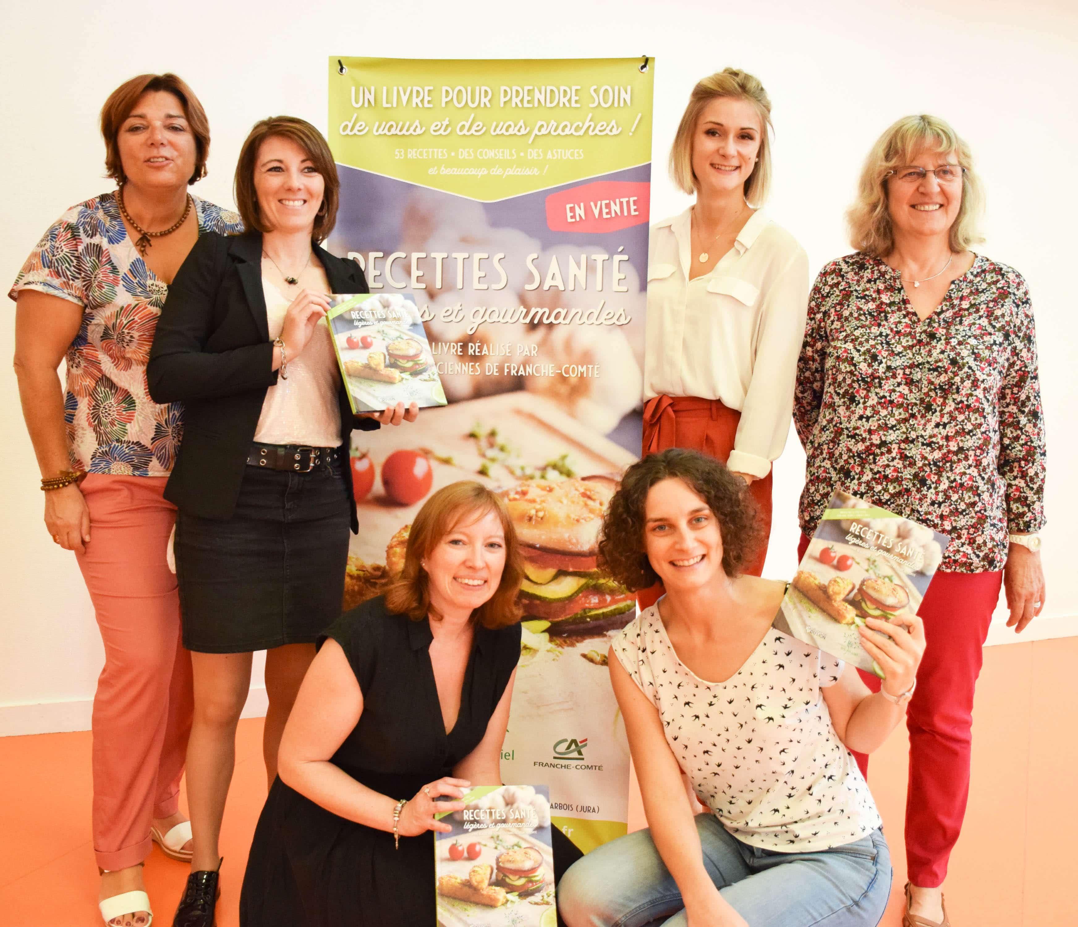 l'équipe des diététiciennes du CRCP au Lancement livre RSLG