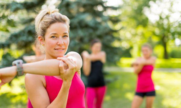 Femmes lors du séance de sport