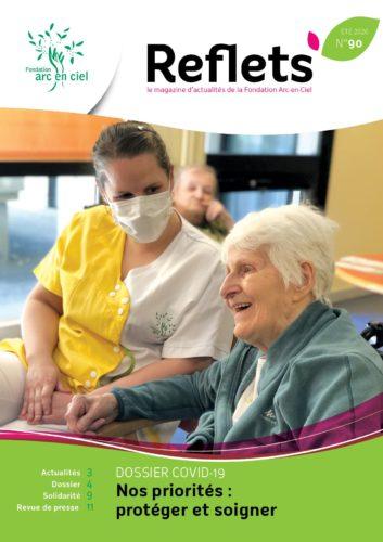 couverture du magazine Reflets 90 consacré à la crise du COVID19 : protéger et soigner, nos priorités